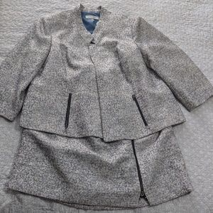 Plus Size Business Suit with Skirt